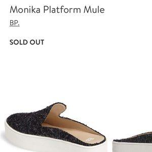 508d1044d6bce bp Shoes - 🔴 Tweed Platform Mule Slip Ons